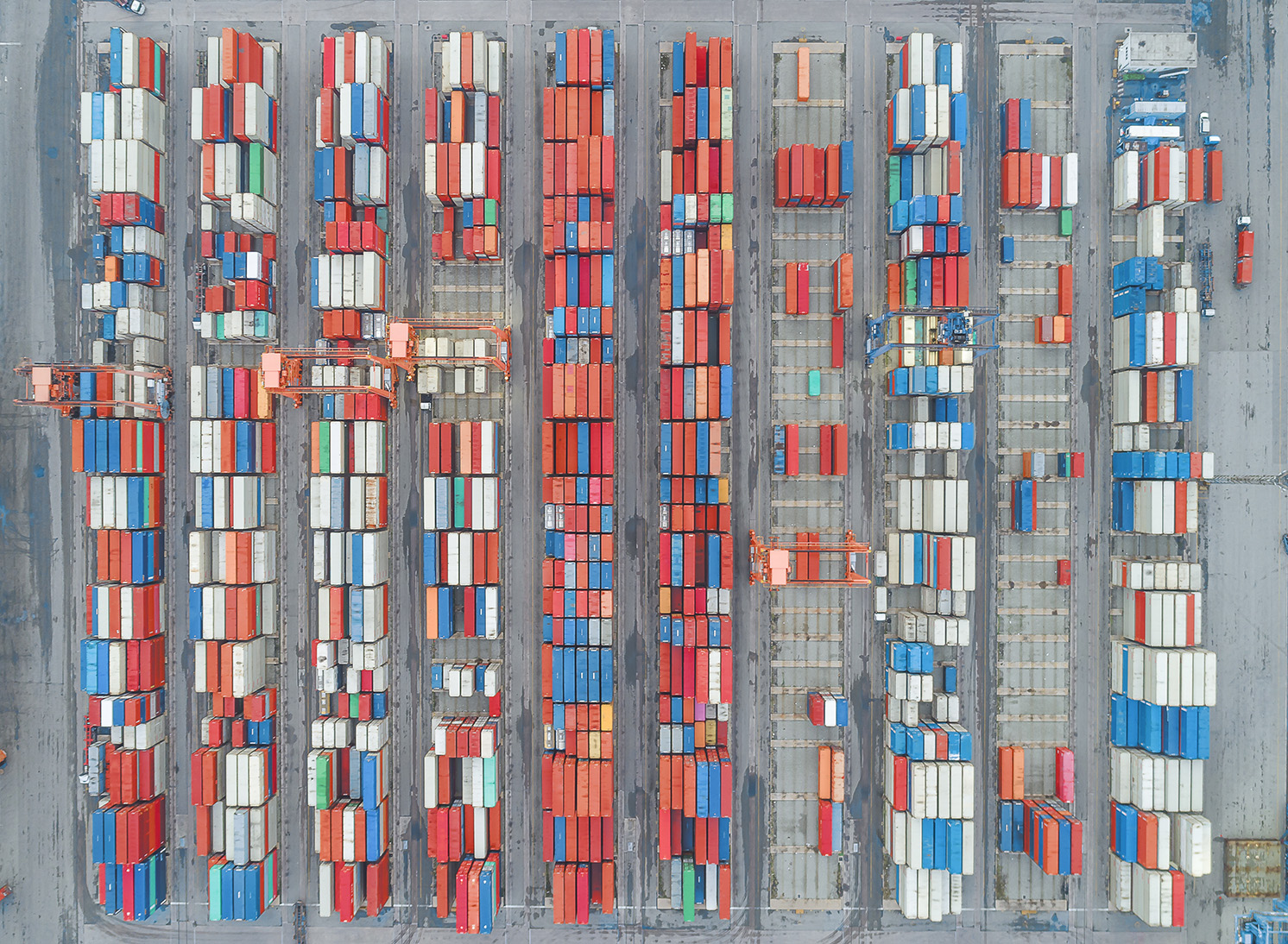 containers seen from above